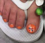 Oranje Nail Art