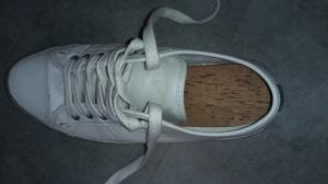 Cederhouten inlegzolen in mijn schoenen